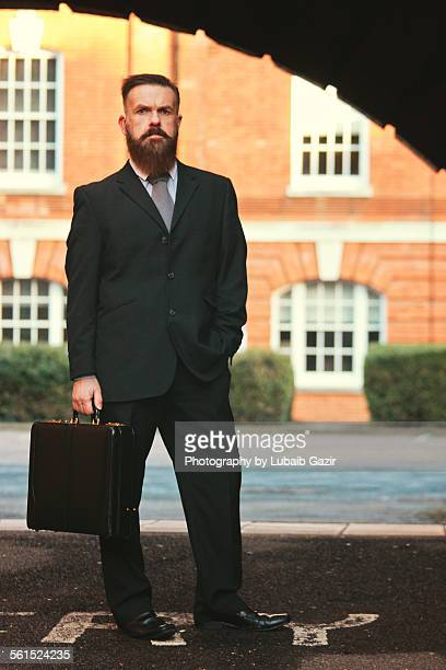 Bearded Businessman with his briefcase