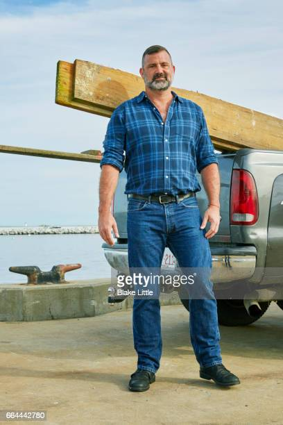 Bearded Fisherman with Truck