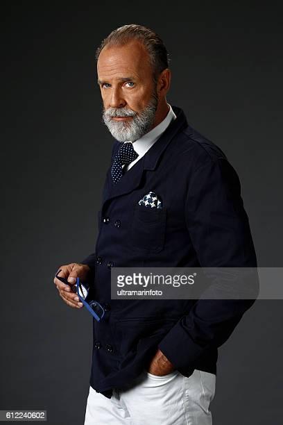 Bearded  lumbersexual   Attitude senior men    Individuality  portrait