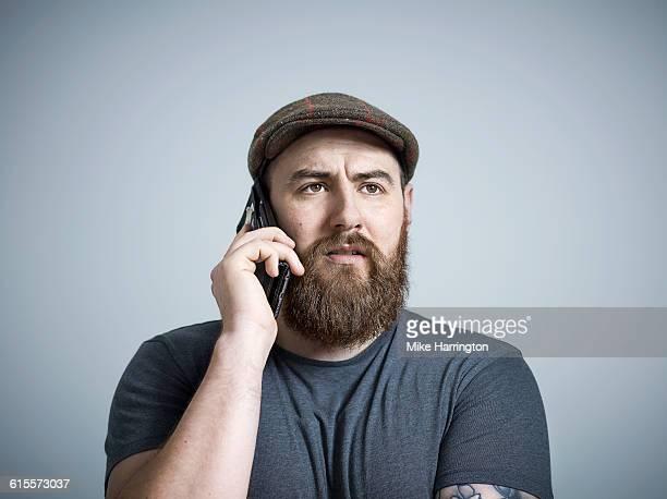 Bearded Male Making Phone Call
