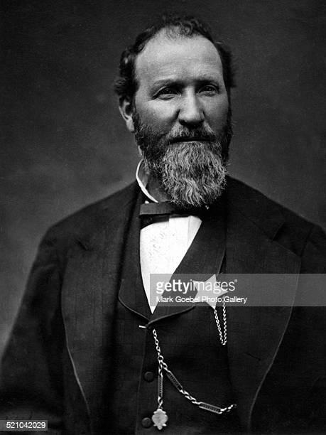 Bearded man sheriff 1870s