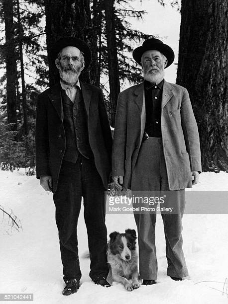 Bearded men with dog early to mid 1910s