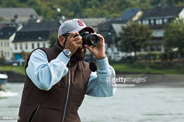 bearded tourist - nikon stock pictures, royalty-free photos & images