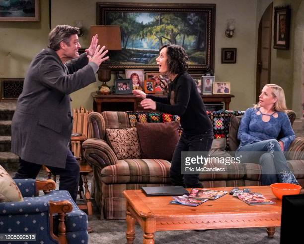 THE CONNERS Beards Thrupples and Robots Harris is the boss of Darlene after her mom desperate for money gets a job at Price Warehouse Jackie decides...