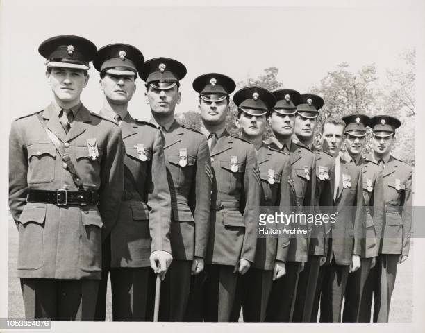 Bearer Party at the Churchill Funeral Receive their Honours at Windsor Today at Victoria Barracks Windsor the Grenadier Guards Bearer Party at the...