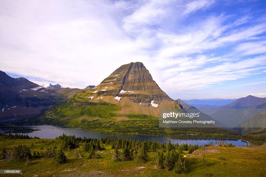 Bearhat mountain and hidden lake : Stock Photo