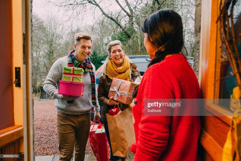 Bearing Christmas Gifts : Stock Photo