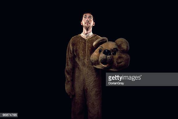 bearman - animal costume stock pictures, royalty-free photos & images