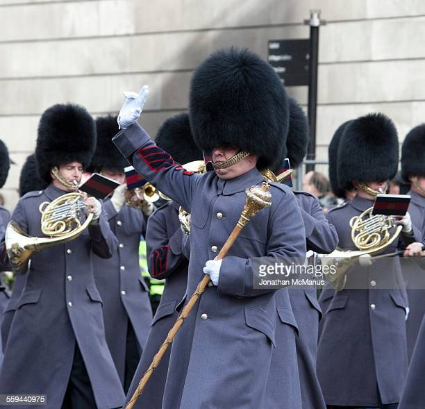 Bearskins following leader at Lord Mayor's Show