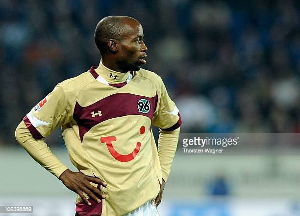 Beasley DaMarcus of Hannover looks dejected after loosing the Bundesliga match between TSG 1899 Hoffenheim and Hannover 96 at Rhein-Neckar Arena on...