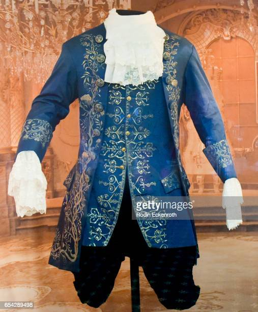 "Beast"" costume on display at opening night of Disney's ""Beauty And The Beast"" at El Capitan Theatre on March 16, 2017 in Los Angeles, California."