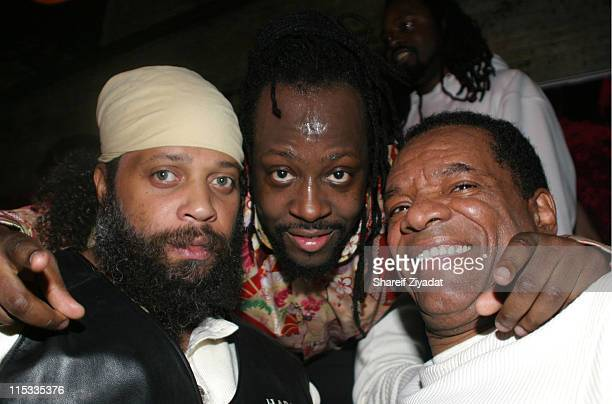 Beast WyClef Jean and John Witherspoon during WyClef Jean Performs at PM February 2 2005 at PM in New York New York United States