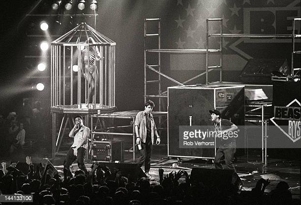 Beastie Boys Adam Horovitz Adam Yauch Mike Diamond perform on stage at Jaap Eden Hal Amsterdam Netherlands 21st May 1987