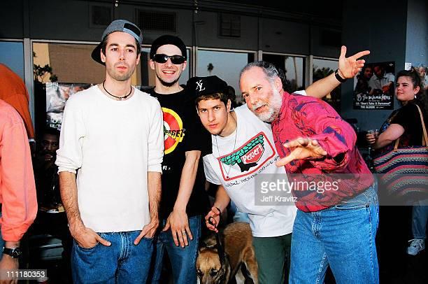 Beastie Boys and Hale Milgram during Beastie Boys at Capitol Records at Capitol Records in Hollywood California United States