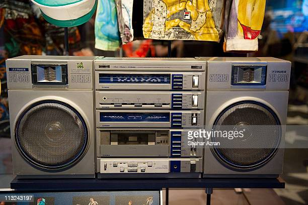Beastie Boys boombox seen on display during the Ain't Nothing Like the Real Thing How the Apollo Theater Shaped American Entertainment exhibition at...