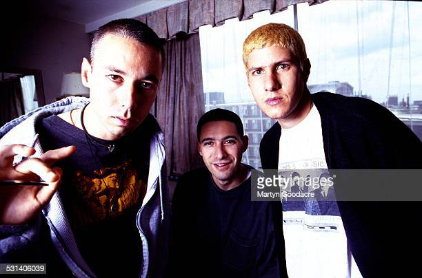 Beastie Boys group portrait London United Kingdom 1993 LR Adam Yauch Adam Horovitz Mike Diamond