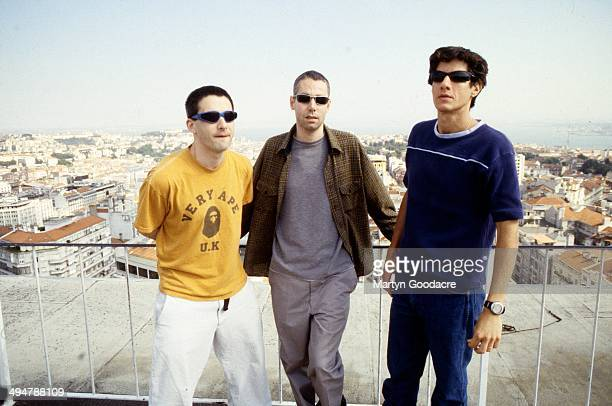 Beastie Boys group portrait Portugal 1998 LR Ad Rock Adam Yauch and Mike Diamond