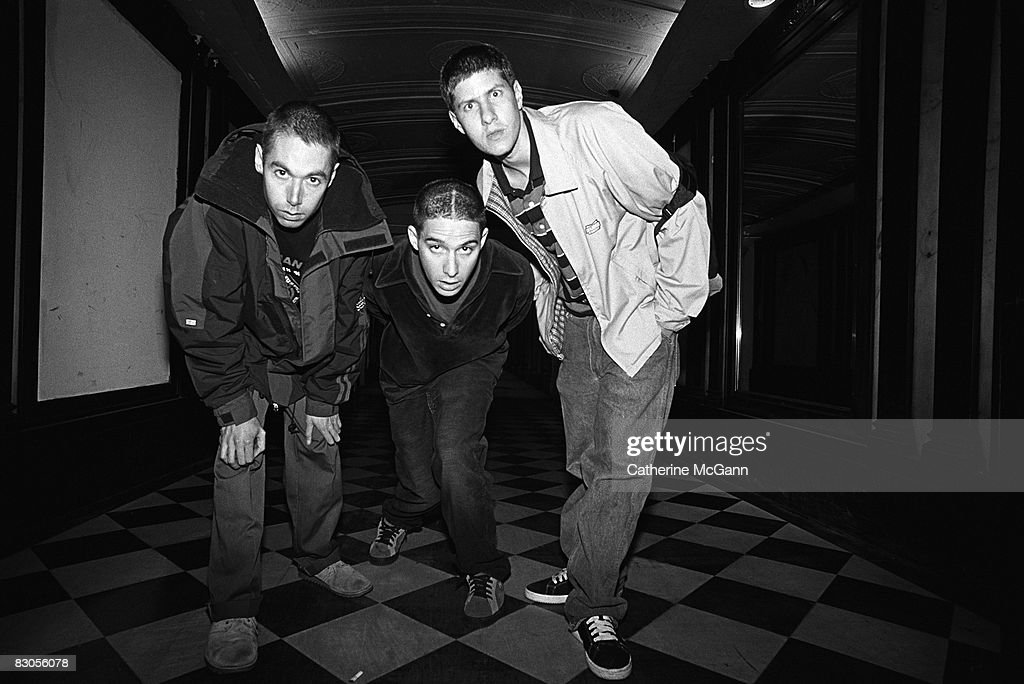 Adam Yauch, Adam Horovitz and Michael Diamond) pose for a portrait on May 27, 1994 in New York City, New York.