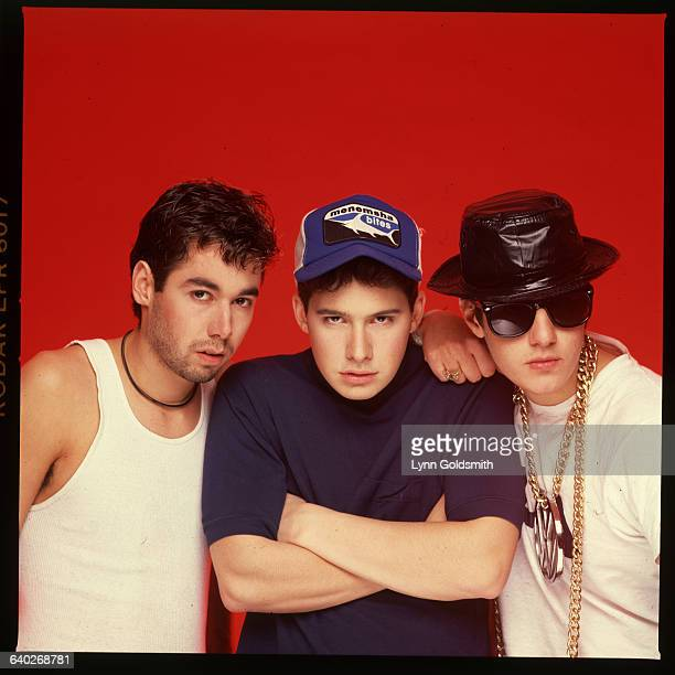 Beastie Boys shown posed in a studio Undated