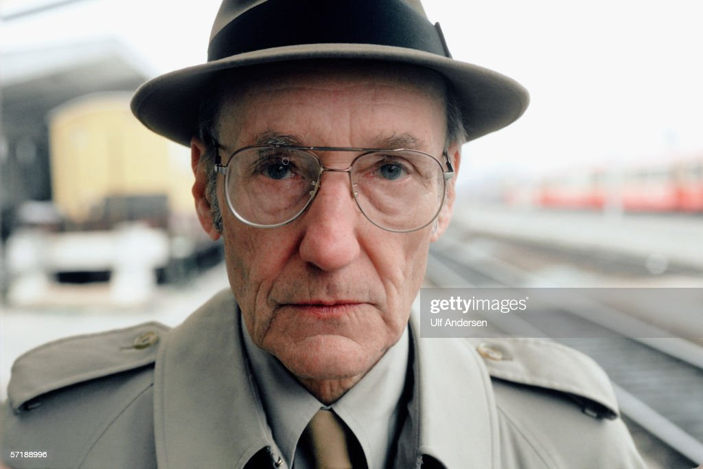 Beat author William S. Burroughs poses while on a visit to Bourges in France during April of 1984.