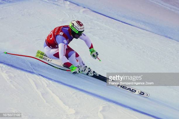 Beat Feuz of Switzerland competes during the Audi FIS Alpine Ski World Cup Men's Downhill on December 28 2018 in Bormio Italy
