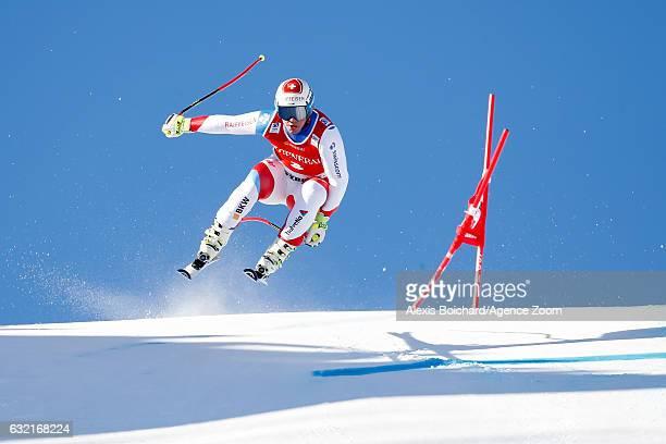Beat Feuz of Switzerland competes during the Audi FIS Alpine Ski World Cup Men's SuperG on January 20 2017 in Kitzbuehel Austria