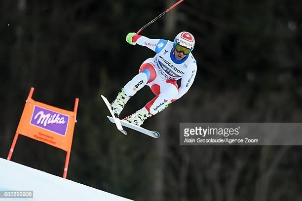 Beat Feuz of Switzerland competes during the Audi FIS Alpine Ski World Cup Men's Downhill on January 28 2017 in GarmischPartenkirchen Germany