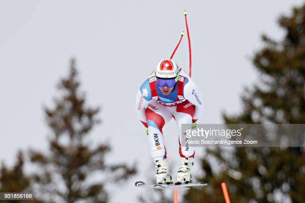 Beat Feuz of Switzerland competes during the Audi FIS Alpine Ski World Cup Finals Men's and Women's Downhill on March 14 2018 in Are Sweden