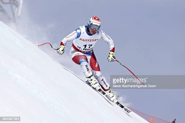 Beat Feuz of Switzerland competes during the FIS Alpine Ski World Championships Men's and Women's Downhill Training on February 09 2017 in St Moritz...