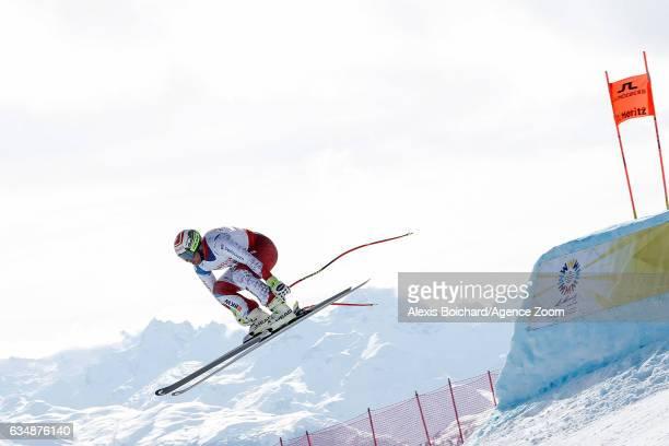 Beat Feuz of Switzerland competes during the FIS Alpine Ski World Championships Men's Downhill on February 12 2017 in St Moritz Switzerland