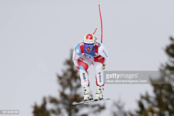 Beat Feuz of Switzerland takes 2nd place during the Audi FIS Alpine Ski World Cup Finals Men's and Women's Downhill on March 14 2018 in Are Sweden
