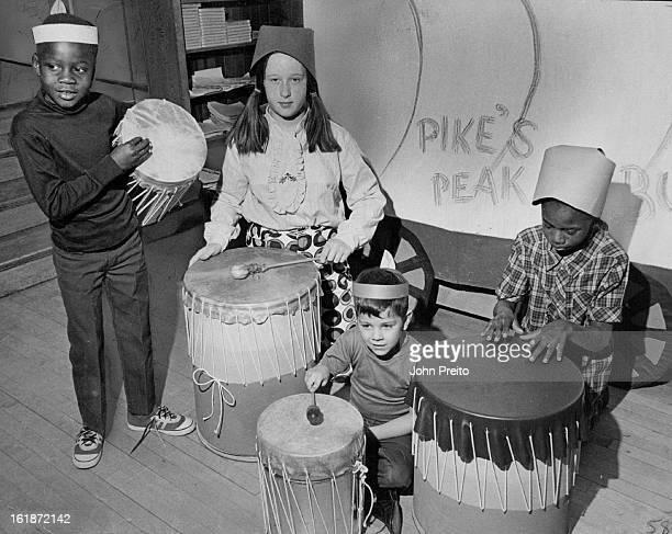 MAR 3 1970 MAR 6 1970 MAR 11 1970 Beat Of Homemade Drums Sounds In Park Hill Make Up Class From left Ronald Fails Kathleen Jones Kathleen Jones Roger...