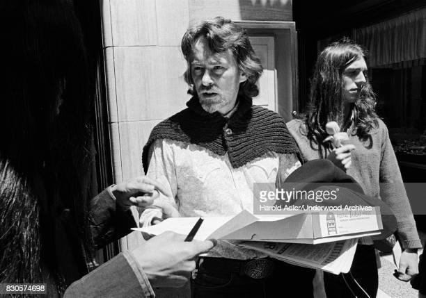 Beat poet, novelist and songwriter Michael McClure, San Francisco, California, 1970.