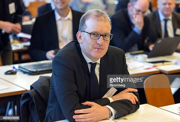 Beat Siegenthaler a currency strategist at UBS Group AG attends the European Central Bank and its watchers conference in Frankfurt Germany on...