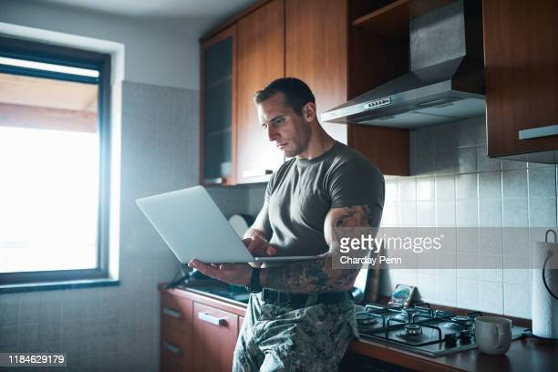 beat the army blues by staying connected - technology trade war stock pictures, royalty-free photos & images