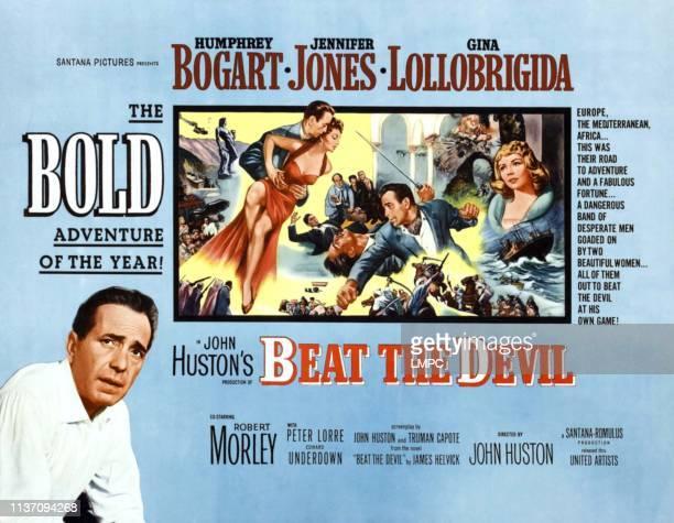 Humphrey Bogart Gina Lollobrigida Humphrey Bogart Jennifer Jones bottom left Humphrey Bogart on poster art 1953