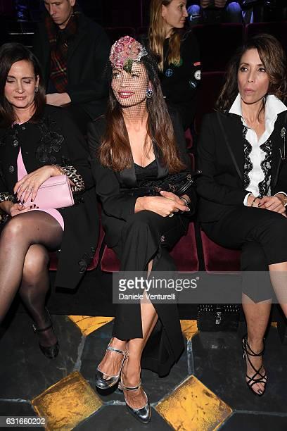 Beata Ben Ammar attends the Dolce Gabbana show during Milan Men's Fashion Week Fall/Winter 2017/18 on January 14 2017 in Milan Italy