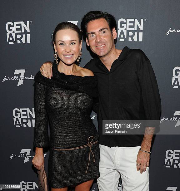 Beata Bohman and Ian Gerard attend the Gen Art Film Festival Launch Party Presented by 7 For All Mankind on May 24 2011 in New York City