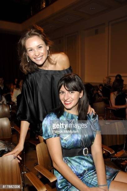 Beata Bohman and Mia Morgan attend Power Of Muze Concerts Integration For Peace at Bohemian National Hall on September 23 2010 in New York City