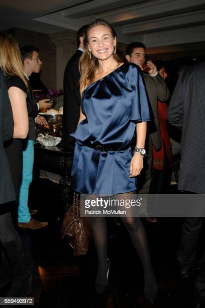 Beata Bohman attends OCEANA New York Launch hosted by Alexander and Brenda von Schweickhardt sponsored by TIFFANY Co at Private Residence on October...