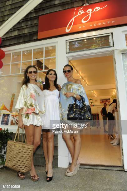 Beata Bohman Kimberly Guilfoyle and Marta Skoglund attend JOGO By POONEH Opening at Jogo on July 31 2010 in Bridgehampton NY