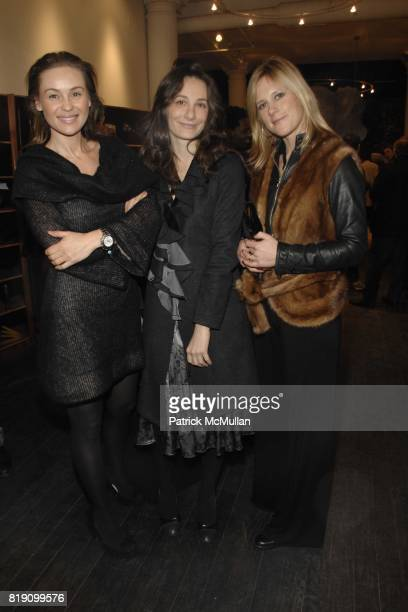 Beata Bohman Scesania Balarini Anna Maculan attend the Opening of Lies Maculan's THE DREAM SHOP at 30 West 21st Street on March 11 2010 in New York...