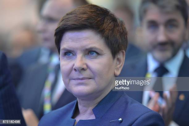 Beata Szydlo the Prime Minister of Poland takes part in Congress 590 in the new Exhibition and Congress Centre in RzeszowJasionka CONGRESS 590 is a...