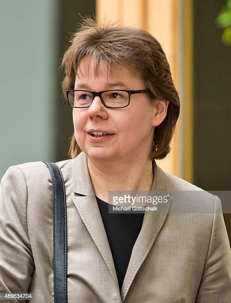 Beate Baumann head of German Chancellor Angela Merkel office attends the presenation of 'Die Biographie' of 'The Biography' by biographer Gregor...