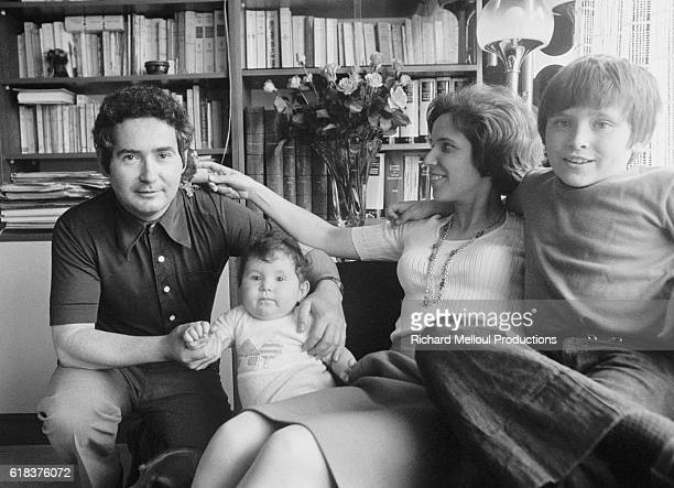 Beate Klarsfeld author and Nazi hunter with her husband Serge daughter Lydia and son Arnaud is sentenced for a kidnapping attempt In March 1971 Beate...