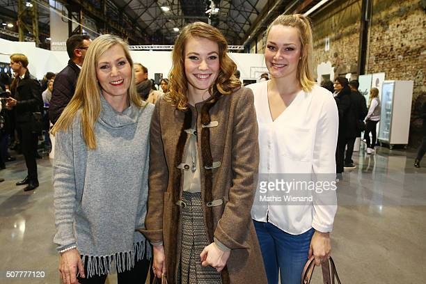 Beate Kleverl Amelie Klever and Mara Klever attend the Platform Fashion Selected show during Platform Fashion January 2016 at Areal Boehler on...