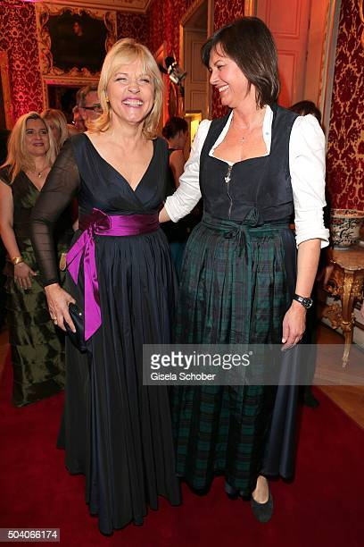 Beate Merk and Ilse Aigner during the new year reception of the Bavarian state government at Residenz on January 8 2016 in Munich Germany