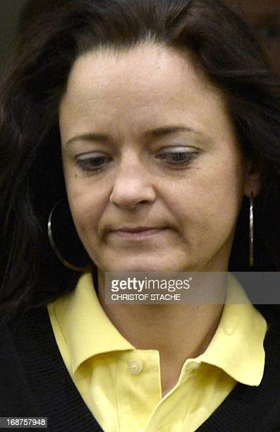 Beate Zschaepe accused of being at the heart of neoNazi killer cell NSUarrives for the third session of her trial on May 15 2013 at the Munich...