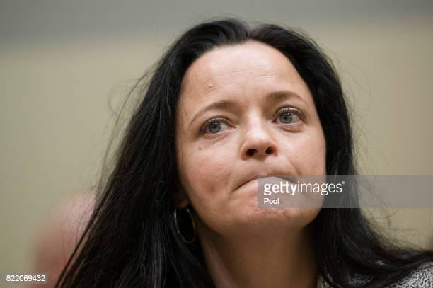 Beate Zschaepe the main defendant in the marathon NSU neoNazi murder trial attends court on the day federal prosecutors are expected to begin...