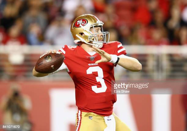 J Beathard of the San Francisco 49ers in action against the Denver Broncos at Levi's Stadium on August 19 2017 in Santa Clara California